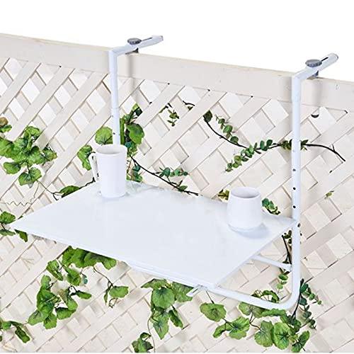 ZRXRY Mesa Colgante Plegable al Aire Libre, Mesa de barandilla de balcón Ajustable, Mesa de Cubierta de balcón Plegable Adecuado para Patio jardín Cubierta