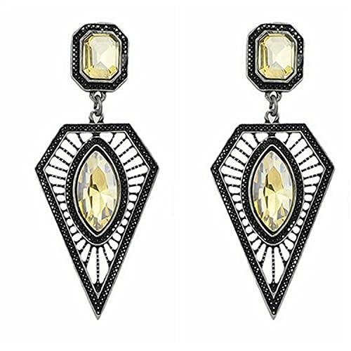 YFZCLYZAXET Pendientes Mujer Pendientes Triangulares De Cristal Pendientes Casuales De Moda Pendientes Sencillos Casuales-Champán Lx0050