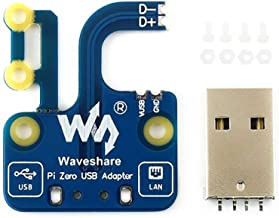 waveshare USB-Micro to USB-A Adapter for Raspberry Pi Zero V1.3/Zero W/Zero WH to Directly Pluggable into Computer USB Port Power Supply&USB OTG Available