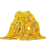 Futurecos Gudetama Manta de franela suave de tamaño completo The Lazy Egg Manta amarilla Linda Huevo Amarillo Manta de tamaño Queen Anime Regalo para niñas Niños (manta 79 pulgadas 79 pulgadas)