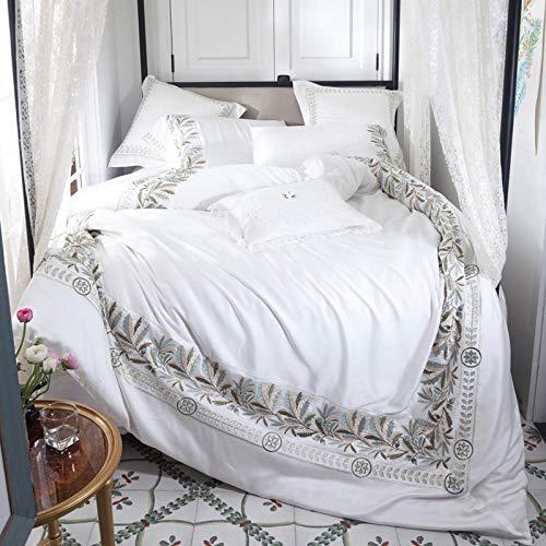 NIANMEI Lente Release Amerikaanse Tencel Beddengoed Set Borduurwerk Dekbedovertrek Set Bed Sheet Kussenslopen Queen King Size