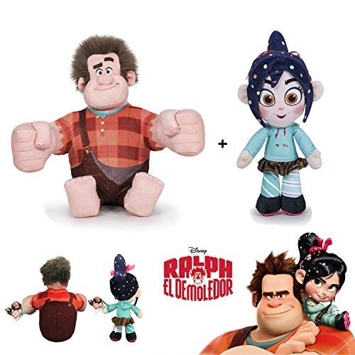 WR ¡Rompe Ralph! 2 - Pack 2 Peluches de la película Ralph