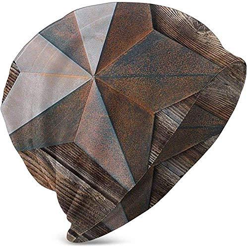 GodYo antieke roestige sterrenbeeld op verweerde houten planken vintage comfortbale zachte slouchy collectie breien hoeden Skull Cap Ski Baggy