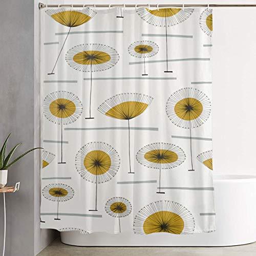 Mid Century Modern Flower Bathroom Shower Curtain Decorative Toilet Celebrate Ornament Picks Set Prints Themed All Supplies Accessories Sale Indoor Home Room Restroom Ornament