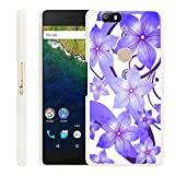 Huawei Google Nexus 6P Case Floral,Gifun Slim White Hard