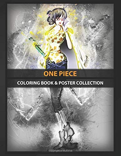 Coloring Book & Poster Collection: One Piece Tashigi Anime & Manga
