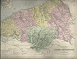 Carte département de la Seine inférieure par V.A Malte-Brun .. 1890