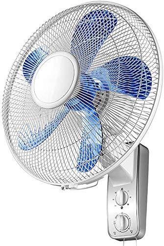 ZYLHC Inicio de Negocios Blanco montado en la Pared, Aficionados oscilante silencioso de refrigeración Pared Fan con 3 Velocidad/Cuerda del tirón for el Dormitorio/Fábrica/Oficina, Gran Angular
