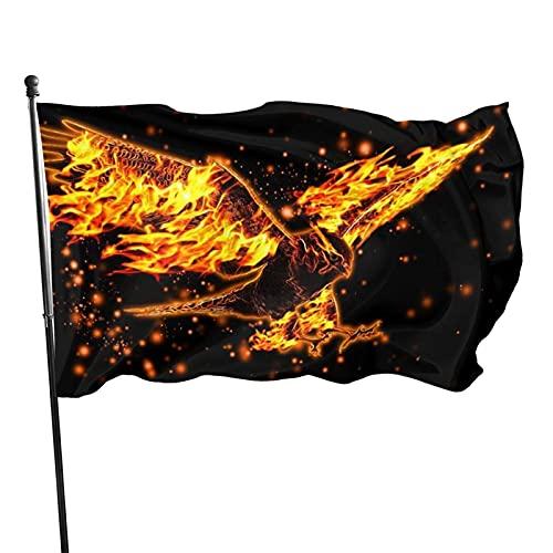 GOSMAO Bandera de jardín de Bienvenida, Banderas de Patio de águila de Fuego para Primavera, Verano, otoño, Patio, decoración de Granja al Aire Libre, 150X90cm