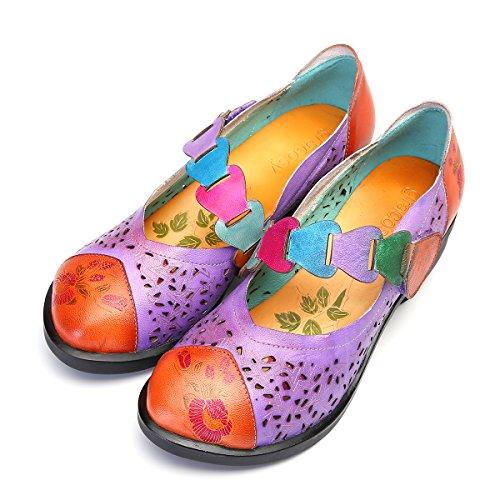 gracosy Merceditas Zapatos para Mujer Bombas de Cuero Anillo de Gancho Tobillo...