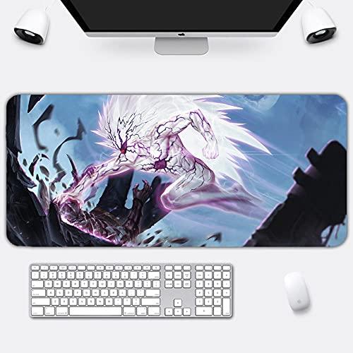 Alfombrillas de ratón Alfombrilla De Ratón Juegos One Punch-Man Anime Ordenador Portátil Gamer Gran Teclado Alfombrilla De Ratón 300X600X4Mm
