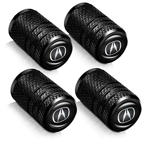 Baoxijie 4 Pcs Metal Car Wheel Tire Valve Stem Caps for Acura RLX RDX MDX ILX TLX Logo Styling Decoration Accessories