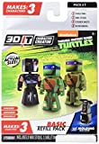 3D Character Creator Teenage Mutant Ninja Turtles Basic Refill Pack Style 1 Novelty Toy