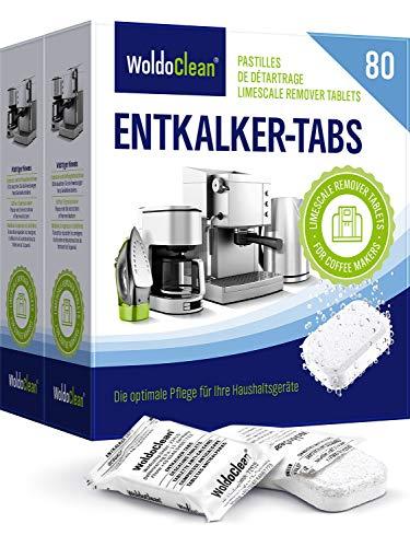 Descalcificador Cafetera Pastillas de descalcificación - 80x 16g Tabletas para máquina de café, Compatible con marcas Delonghi, Dolce Gusto, Nespresso, Seaco, Krups, Senseo