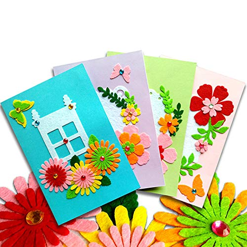 Card Making Kits DIY Handmade Greeting Card Kits for Kids, Christmas Card Folded Cards and Matching...