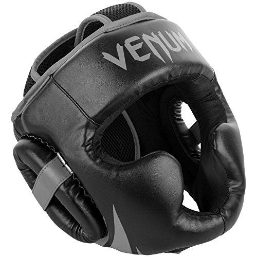 Venum Challenger 2.0 Casco de Boxeo, Unisex Adulto, Negro/Gris, Talla Unica