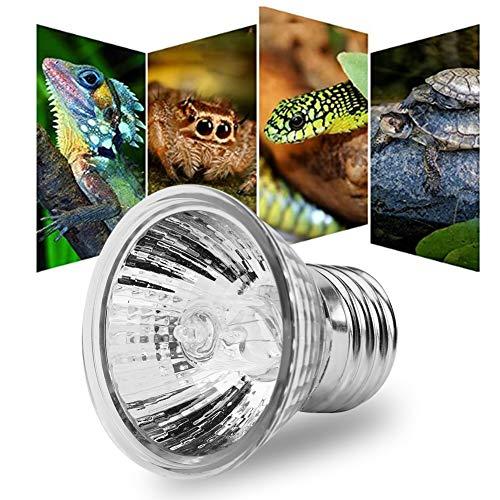 Zerodis 25W/50 W Heizung Glühbirne Aquarium Sonnenbad Lampe Reptil Lampe Glühlampe Heizungs Schildkröten Wärmeemitter mit E27 Sockel für Haustier Reptil(25W)