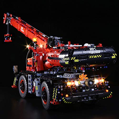 POXL LED Licht-Set Für Lego Technic Geländegängiger Kranwagen - Led Beleuchtungsset Kit Für Lego 42082 - NUR Licht Set