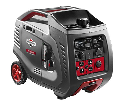 Briggs & Stratton P3000 Power Smart Series Inverter Generator with LCD Display and Quiet Power Technology, 3000 Starting Watts 2600 Running Watts, RV Ready