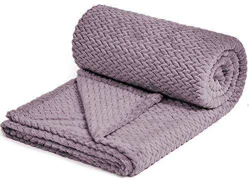 NEWCOSPLAY Super Soft Throw Blanket Premium Silky Flannel Fleece Leaves Pattern Lightweight Blanket...