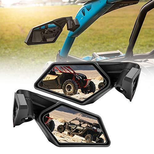 Can am X3 Side Mirrors, A&UTV PRO Rear View Mirror for Can am Maverick X3 Max Turbo R 2017 2018 2019 2020, Replace # 715002898