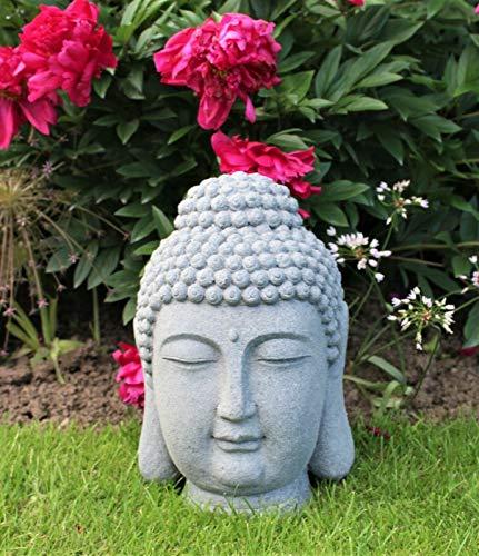 HH Home Hut Garden Ornament Buddha Head Large Giant Outside Decorative Patio 45cm