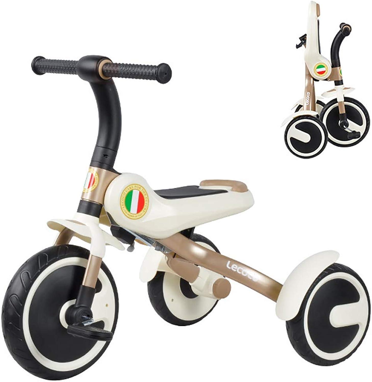 MC-F Portatile Triciclo per Bambini, Pieghevole Bici a Pedali per Bambini, per 3-6 Anni Bambini e Bambini Piccoli - 80-120 CM,gituttio