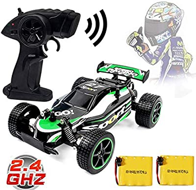 Blexy RC Racing Cars 2.4Ghz High Speed Rock Off-Road Vehicle 1:20 2WD Radio Remote Control Racing Toy Cars Electric Fast Race Buggy Hobby Car Green 211 (Green)