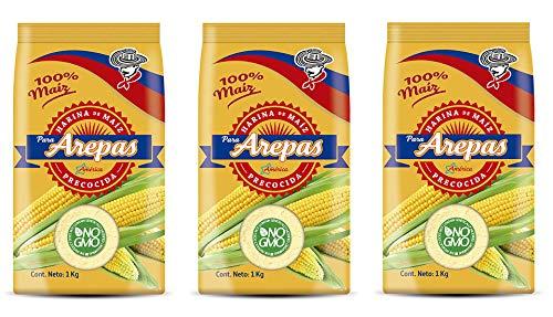 Gelbe Maismehl (vorgekocht) für Arepas - NO-GVO / Harina de Maiz amarilla pre-cocida para Arepas - NO-GMO