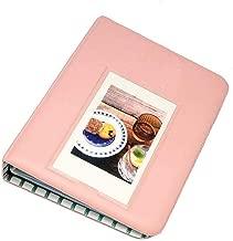 DIY Mini Photo Album 64 Pockets Photo Album Cute Picture Album For Polaroid Snap HP Sprocket Kodak Mini 3-Inch Film (Pink) Gifts