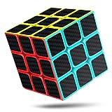 cfmour Cubo de Mágico,Cubo de Velocidad 3x3x3, Fibra de Carbono Suave Magia Cubo, 3D Puzzle Inteligencia Mágico Speed Cubo, Rompecabezas y Fácil Giro, Súper Duradero