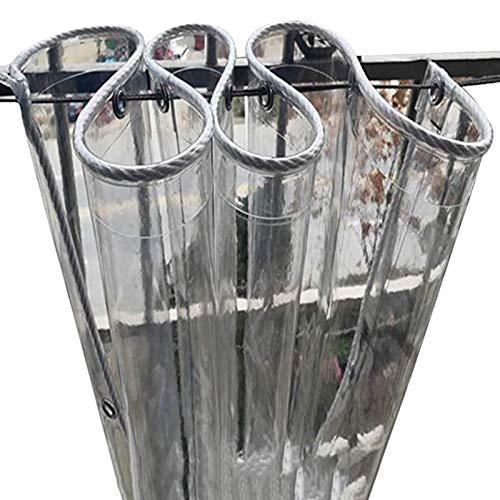 MSTOLL Duradera Lonas Impermeables Refugio De Lluvia Plegable Tela Cubiertas Plástico Exterior Tela De Plástico Cortina De Lluvia Personalización de Soporte-1.2X4.0M Claro