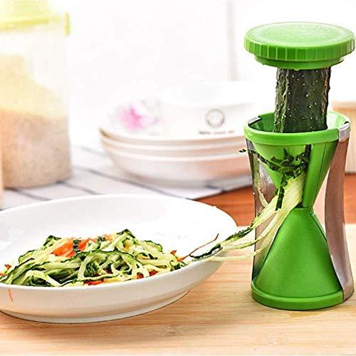 BBGSFDC Machine à vis 1PC végétale Coupe-Papier trancheuse Spirale fourni courgette Carotte déchiqueter équipement de Traitement