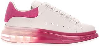 Luxury Fashion   Alexander Mcqueen Women 611698WHX9V9126 White Leather Sneakers   Season Permanent