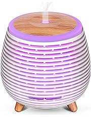 SALKING Dyfuzor zapachowy, bez BPA, aromaterapia, z regulowanym trybem mgły, 23 dB, ultra cichy nawilżacz powietrza z 7 kolorami lampkami nocnymi, lampa zapachowa do domu, biura, jogi, biały