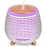 SALKING Diffusore di Oli Essenziali, USB Alimentato Diffusore di Aromi con Rosa Olio Essenziale, Diffusori Ambiente Elettrico con 7 Colori LED Luce Notturna, Umidificatore Ambiente Bambini