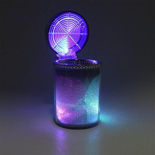 iTimo Cendrier de voiture avec lumière LED pour cigarettes, cigares, cendriers cylindriques, porte-gobelet, accessoires auto