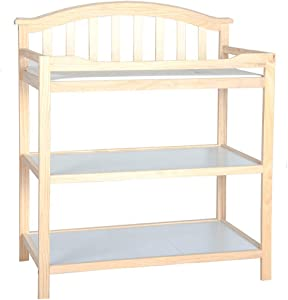 Infant Dresser  Babys Changing Station Table Unit with Waterproof Mat and Safety Straps Color Options