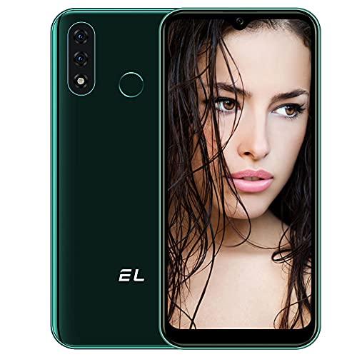 Smartphone Offerta del Giorno 4G, EL D60 Pro Android 10 Cellulari Offerte, 6.1 Inch 4000mAh Batteria 3GB RAM 32GB ROM 13MP Tripla Fotocamera Dual SIM Telefonia Mobile, Face ID, Impronta Digitale Verde