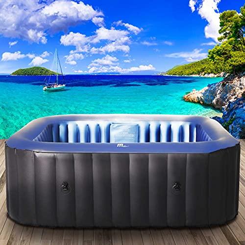 BRAST Whirlpool aufblasbar MSpa TEKAPO für 6 Personen 185x185cm In-Outdoor Pool 132 Massagedrüsen Aufblasfunktion per Tastendruck