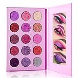 Paleta de Sombras de Ojos Dream Purple, DE'LANCI 15 Color Violet Pink Eyeshadow Palette Altamente Pigmentadas Pro, Paleta de Maquillaje de Sombra de Ojos Con Brillo Mate de Larga Duración,Eye Shadow
