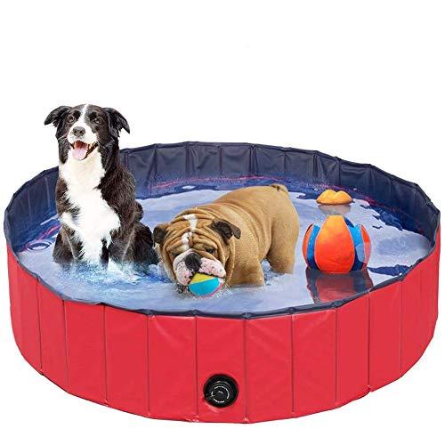 Kinderzwembad Voor Huisdieren En Kinderen Hondenzwembad Draagbaar Opvouwbaar Pet Kinderbad Buitenbad Voor Huisdieren PVC Kinder Speelgoed Zwembad Voor Huisdieren, 80 * 20 Cm