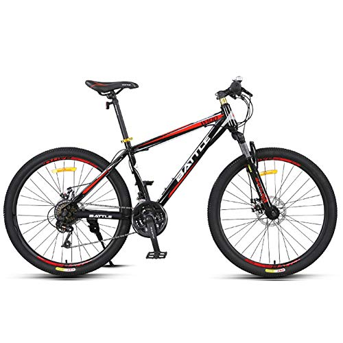 NENGGE 24-Speed Mountain Bikes, 26 Inch Adult High-carbon Steel Frame...