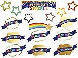 Carson Dellosa Education Sparkle + Shine We were Born to Sparkle Mini Bulletin Board Set, 37 Pieces