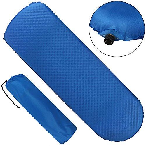 ALPIDEX selbstaufblasende Isomatte 198 x 63 x 7 cm für Frühling-, Sommer- Herbst und laue Winternächte mit Temperaturen bis ca. -5° C, leicht, inkl. Packsack, Farbe:Balance Blue