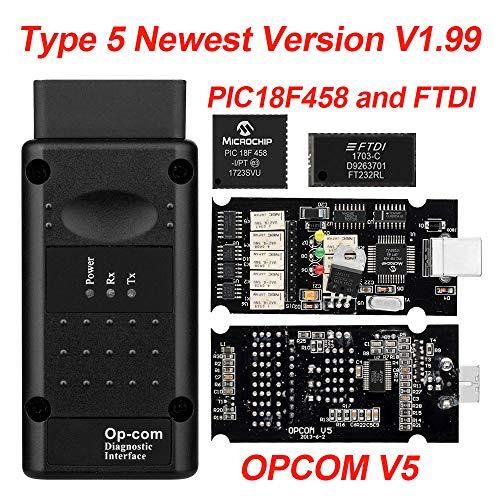 Op com V1.65 V1.78 V1.99 met PIC18F458 FTDI op-com OBD2 Auto diagnostisch hulpmiddel voor Opel OPCOM CAN BUS V1.7 kan flash-update worden