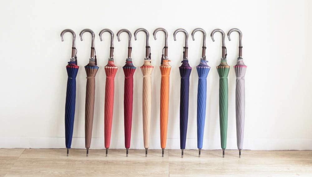 日本製 かさね 長傘 8本骨 60cm 甲州織両面 無地 雨晴兼用 軽量 手開き UVカット加工