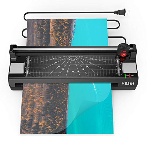A3/A4/A6 Laminator Machine,YE381 Thermal Laminating Machine,Home Office School Use with 50 Pouches Laminator Machine