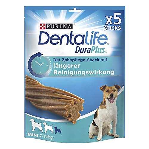 PURINA DENTALIFE DuraPlus Zahnpflege-Snacks mit Tiefenreinigungswirkung, Huhn, kleine Hunde, 5er Pack (5 x 170 g)