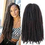 Marley Hair For Twists Afro Kinky Marley Braiding Hair 24 Inch Cuban Twist Braid Marley Crochet Hair 3packs Marley Braid Hair Marley Twist Hair(24''-3 Packs, 4#)